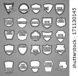 set of premium vintage labels...   Shutterstock .eps vector #171130145