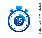 the 15 minutes  stopwatch... | Shutterstock .eps vector #1711337398