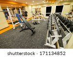 interior view of a gym with... | Shutterstock . vector #171134852