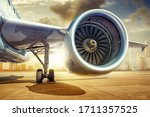 Jet Engine Of An Modern...