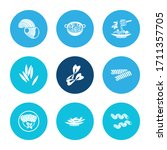 traditional meal icon set and...