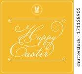 happy easter typography design  ... | Shutterstock .eps vector #171138905