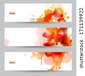 Three Abstract Artistic Banner...