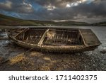 Abandoned Old Rowing Boat At...