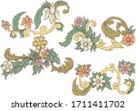 colorfull abstract floral.... | Shutterstock .eps vector #1711411702