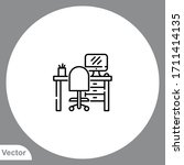 workplace vector icon sign... | Shutterstock .eps vector #1711414135