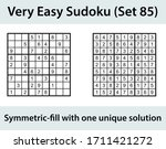 vector sudoku puzzle with... | Shutterstock .eps vector #1711421272