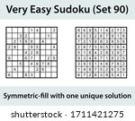 vector sudoku puzzle with... | Shutterstock .eps vector #1711421275