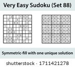 vector sudoku puzzle with... | Shutterstock .eps vector #1711421278