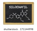 chemical formula of sildenafill ... | Shutterstock . vector #171144998
