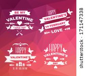 valentine's day set of symbols... | Shutterstock .eps vector #171147338