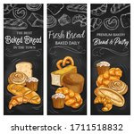 bakery bread  vector chalk... | Shutterstock .eps vector #1711518832