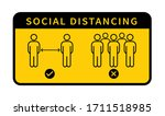 social distancing icon. keep... | Shutterstock .eps vector #1711518985