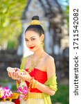 Thai Girl In Traditional Thai...