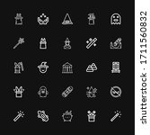editable 25 trick icons for web ... | Shutterstock .eps vector #1711560832
