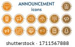 editable 14 announcement icons... | Shutterstock .eps vector #1711567888