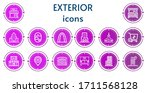 editable 14 exterior icons for...   Shutterstock .eps vector #1711568128