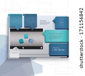 vector design. blue horizontal... | Shutterstock .eps vector #171156842