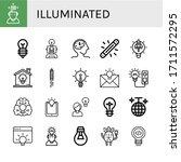 illuminated icon set....   Shutterstock .eps vector #1711572295