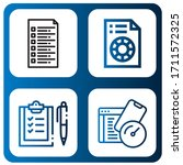 set of questionnaire icons....