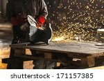 circural saw close up | Shutterstock . vector #171157385