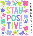 """""""stay positive"""" colorful ... 