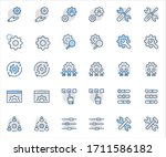 set of settings and setup... | Shutterstock .eps vector #1711586182