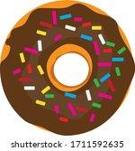 donut logo stock illustration...   Shutterstock .eps vector #1711592635