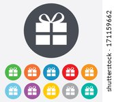 gift box sign icon. present... | Shutterstock .eps vector #171159662