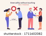 dos and dont's for safe and... | Shutterstock .eps vector #1711602082
