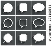 speech bubble icons. think... | Shutterstock .eps vector #171160556
