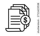 invoice icon. bill paid symbol. ... | Shutterstock .eps vector #1711623538