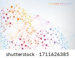 geometric abstract background... | Shutterstock .eps vector #1711626385