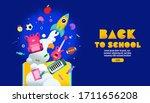 back to school sale banner ... | Shutterstock .eps vector #1711656208