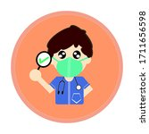 doctor play game with patients...   Shutterstock .eps vector #1711656598