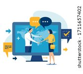 internet sale  e shop ... | Shutterstock .eps vector #1711657402