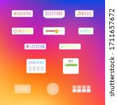 instagram social media... | Shutterstock .eps vector #1711657672