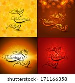 beautiful card collections... | Shutterstock .eps vector #171166358