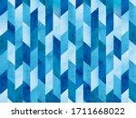 geometrical pattern like blue...   Shutterstock . vector #1711668022