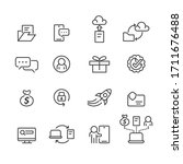 office and business icons set... | Shutterstock .eps vector #1711676488