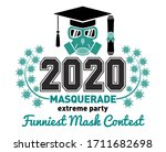 class of 2020 during quarantine ... | Shutterstock .eps vector #1711682698