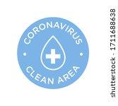 coronavirus clean area icon....   Shutterstock .eps vector #1711688638