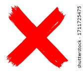 vector high quality red x cross ... | Shutterstock .eps vector #1711725475