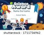 certificate template design for ... | Shutterstock .eps vector #1711736962