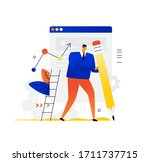illustration of a man with a...   Shutterstock .eps vector #1711737715