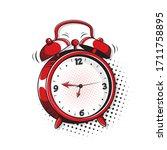 Alarm Clock. Pop Art  Comic...