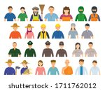 group of thai people various...   Shutterstock .eps vector #1711762012