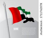 waving flag of united arab... | Shutterstock .eps vector #1711762078