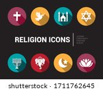 different icons and symbols of... | Shutterstock .eps vector #1711762645