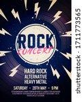vector illustration rock... | Shutterstock .eps vector #1711773565